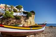 Praia do Carvoeiro an der Algarve / Portugal