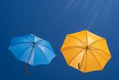fliegende Schirme