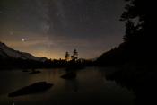 Lago di Saoseo in der Nacht